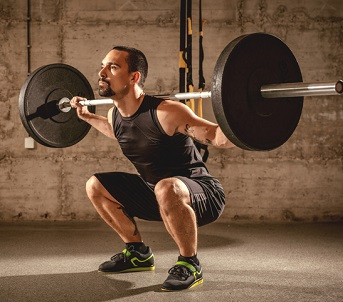 Tyngdlyftarskor är bra att använda i knäböj och tyngdlyftning