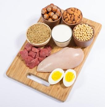 Mat som innehåller aminosyror.